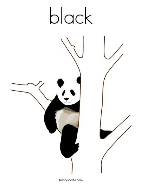 Black Panda Coloring Page