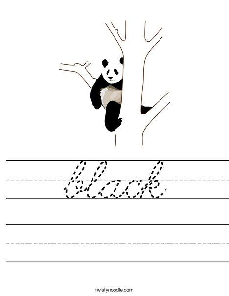 Black Panda Worksheet