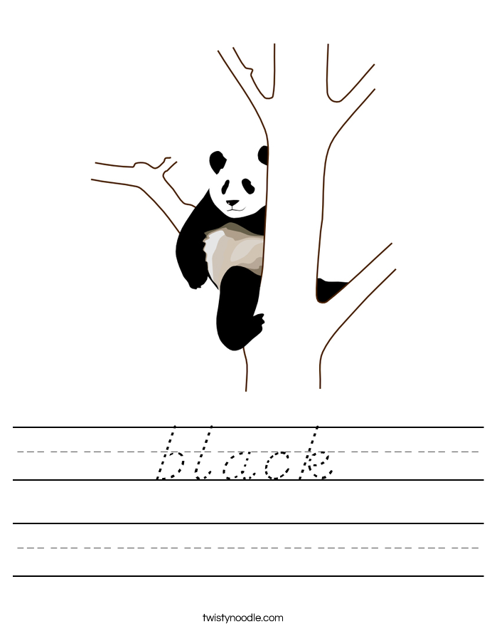 black Worksheet