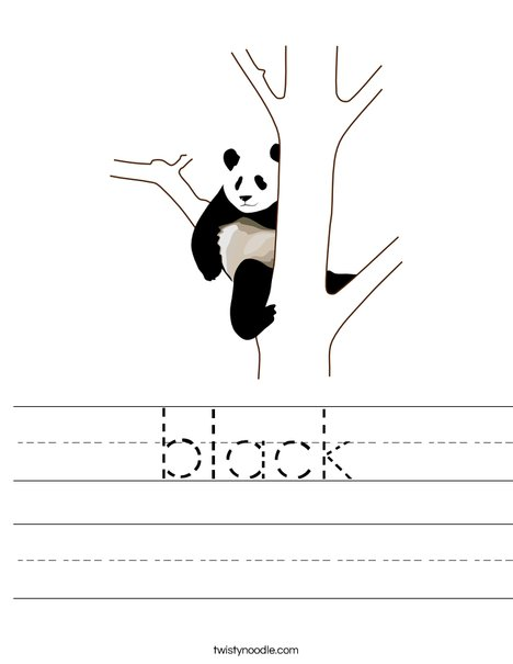 Black Panda Worksheet