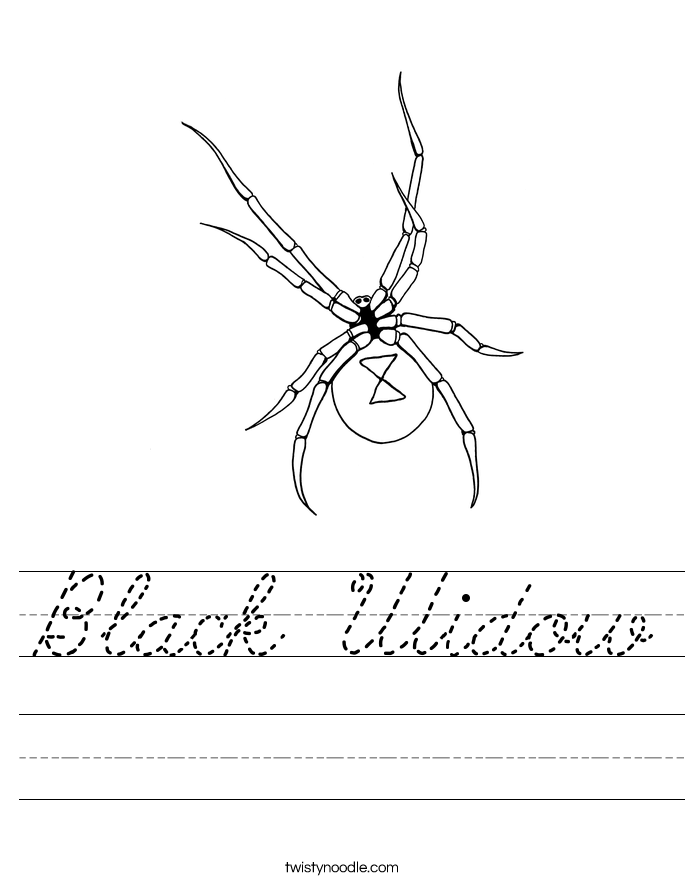 Black Widow Worksheet