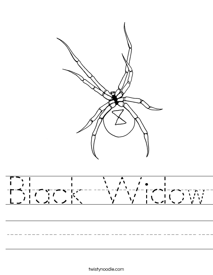 black widow handwriting sheet