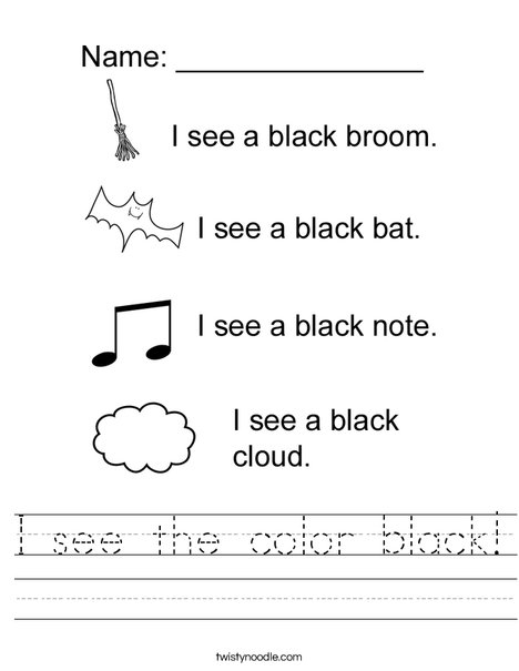 Black Worksheet