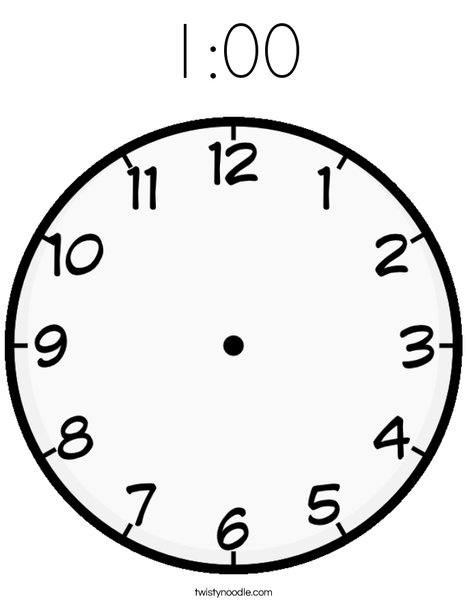 Blank Clock Coloring Page