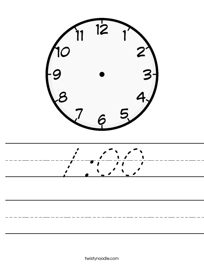 1:00 Worksheet