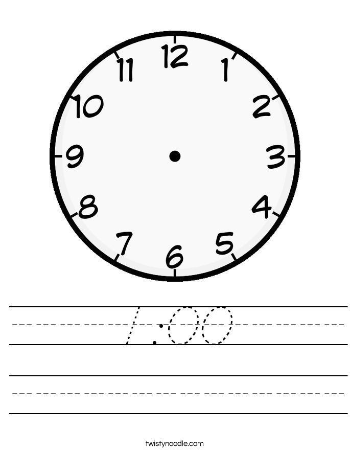 1:00 Worksheet
