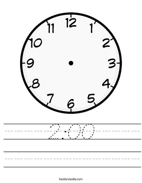 Blank Clock Worksheet