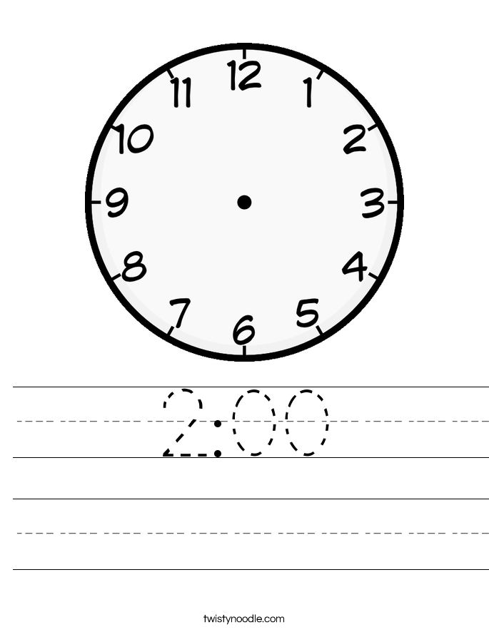 2:00 Worksheet