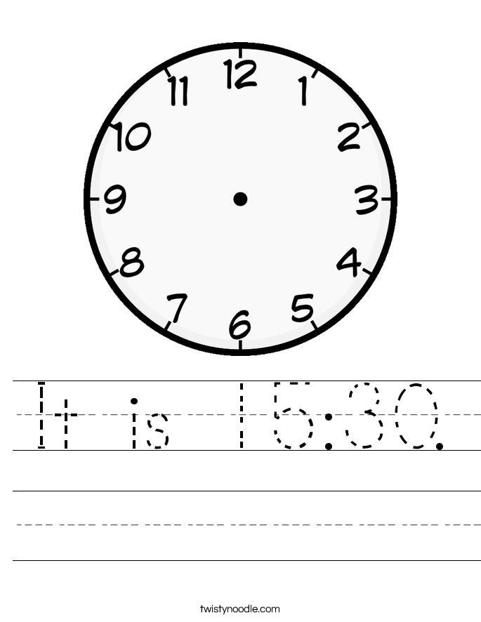 It is 15:30. Worksheet