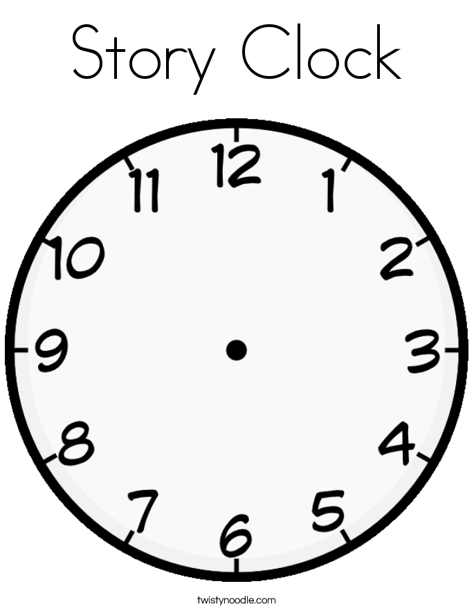 Story Clock Coloring Page