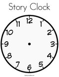 Story ClockColoring Page