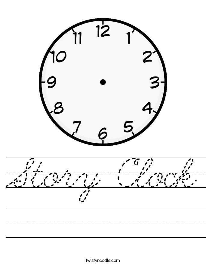 Story Clock Worksheet