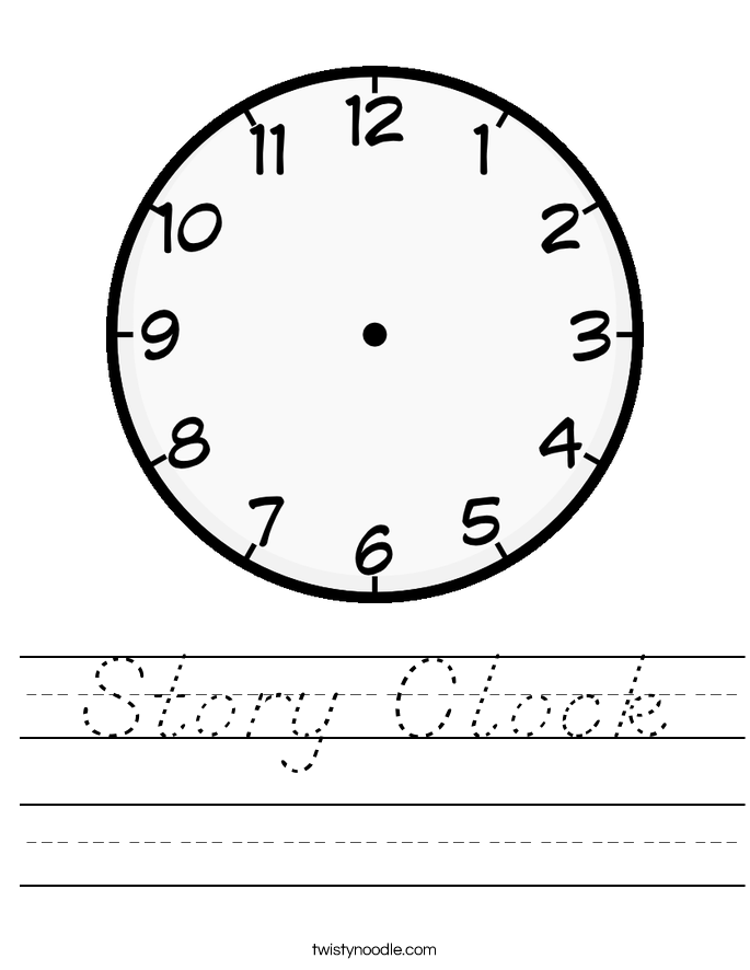 Story Clock Worksheet
