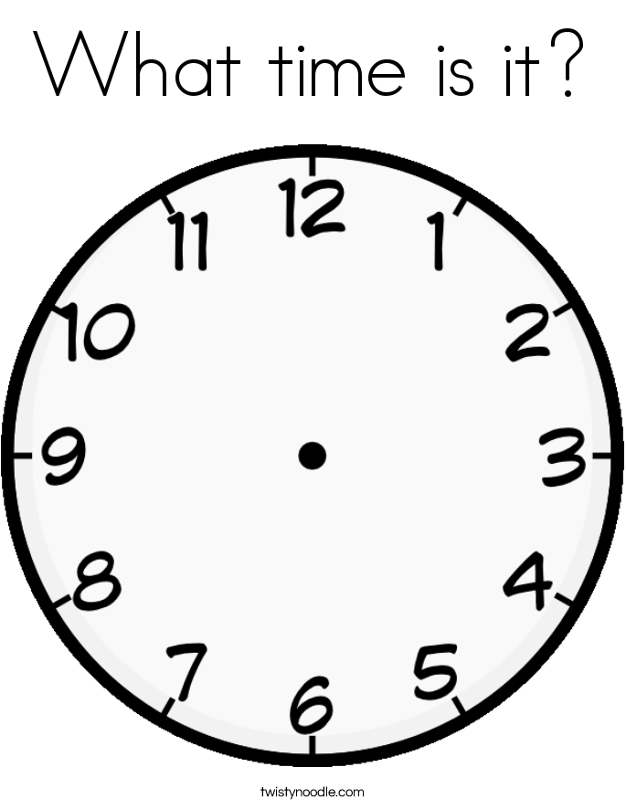 What time is it? Coloring Page
