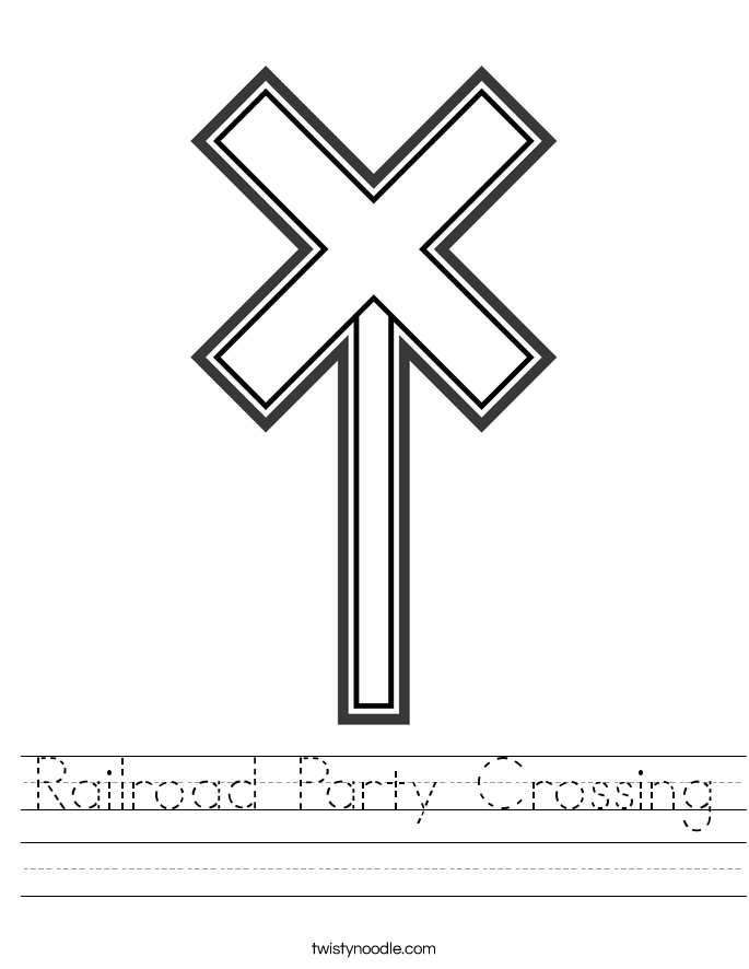Railroad Party Crossing Worksheet