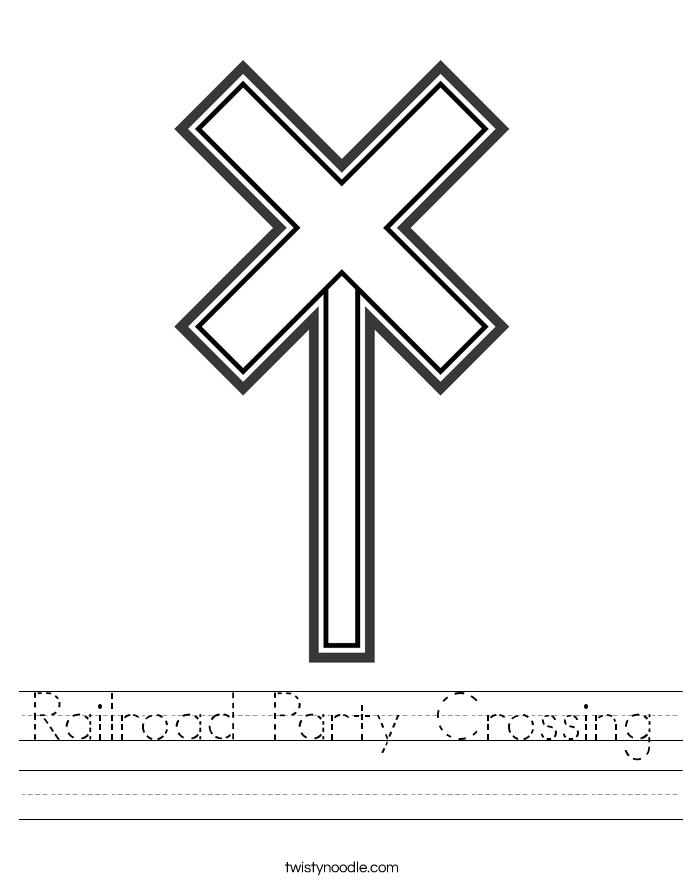 Railroad Party Crossing Worksheet