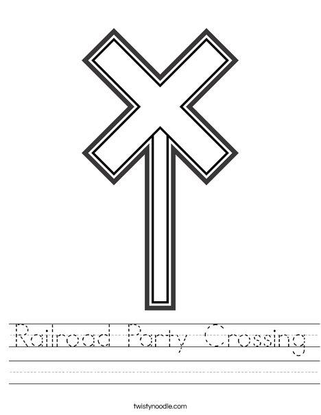 Train Crossing Worksheet