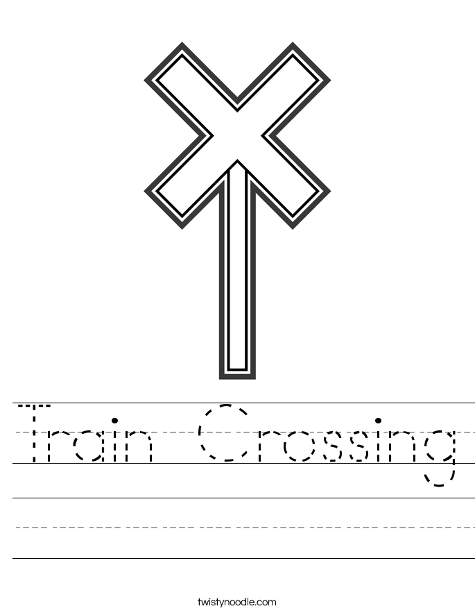 Train Crossing Worksheet