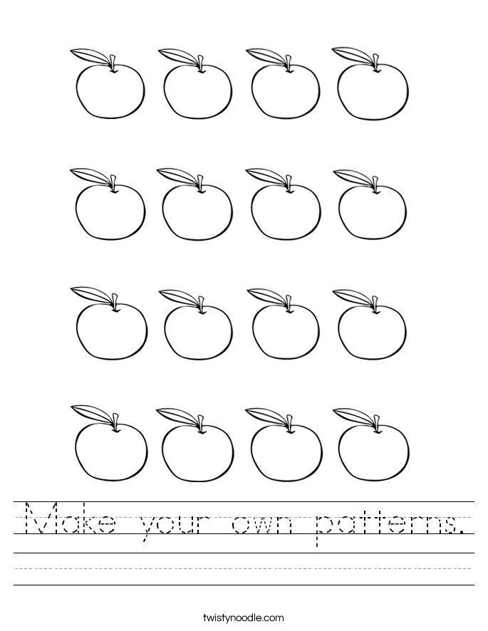 Make your own patterns. Worksheet