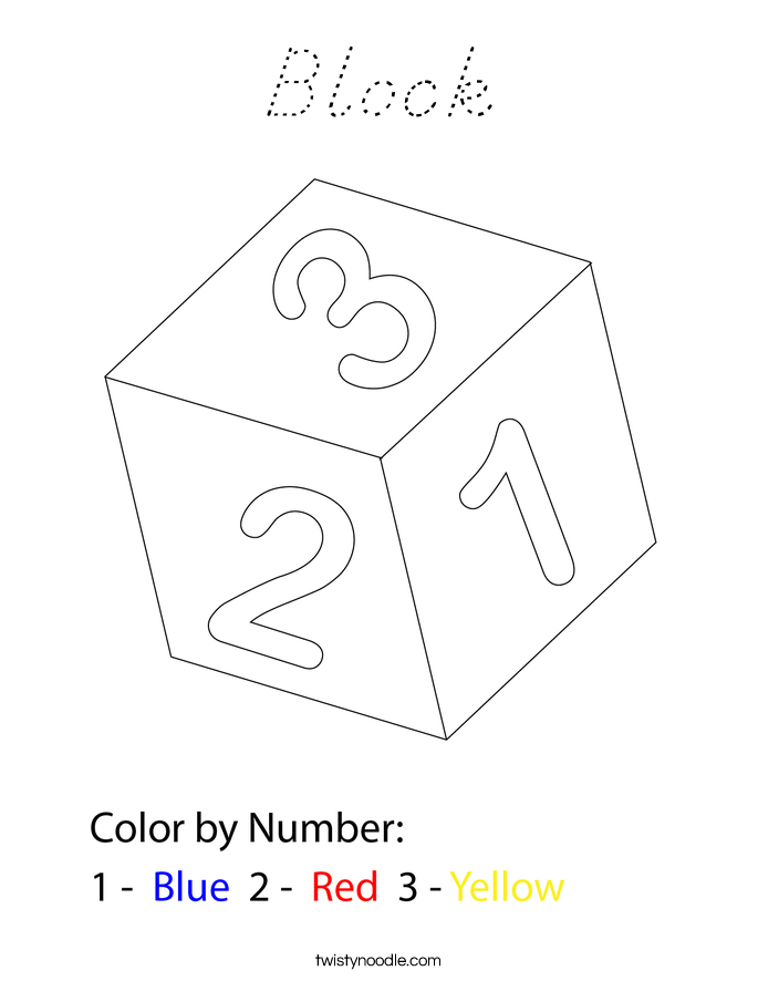 Block Coloring Page