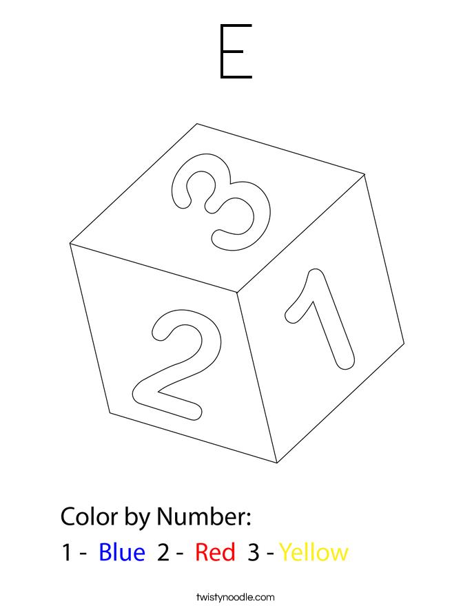 E Coloring Page