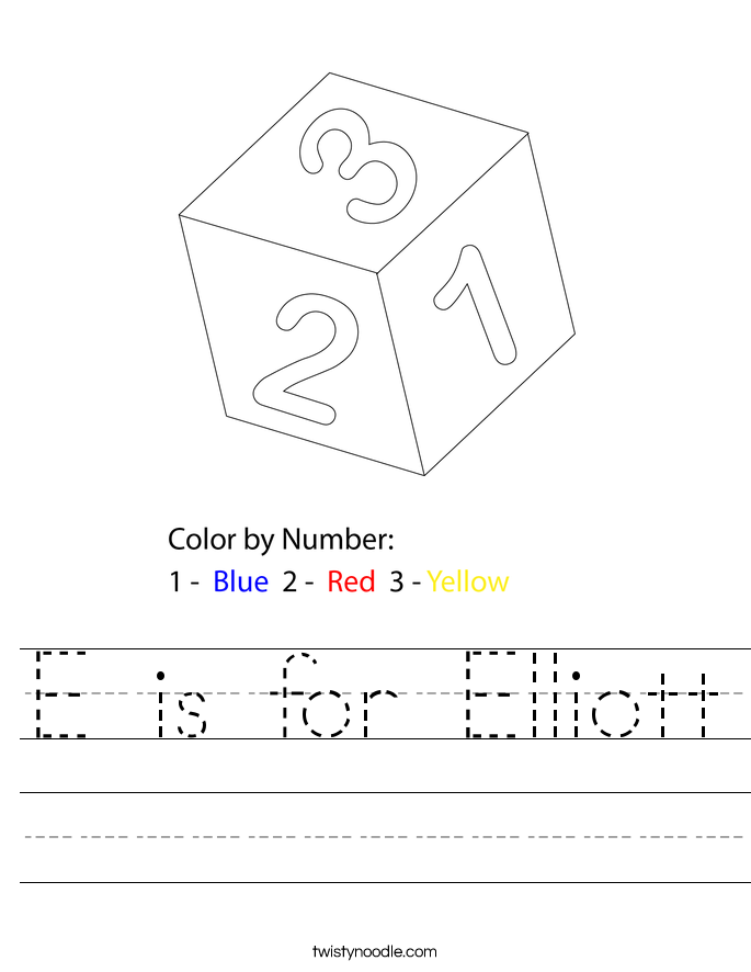 E is for Elliott Worksheet
