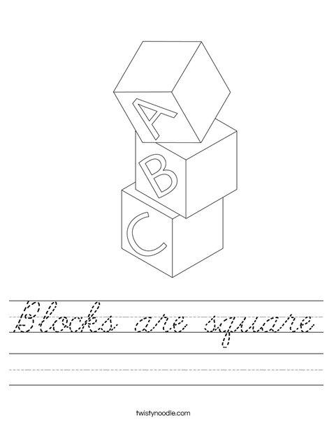 Blocks Worksheet
