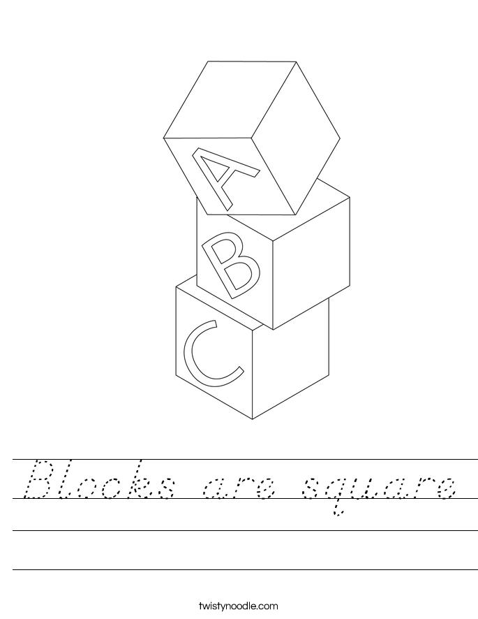 Blocks are square Worksheet