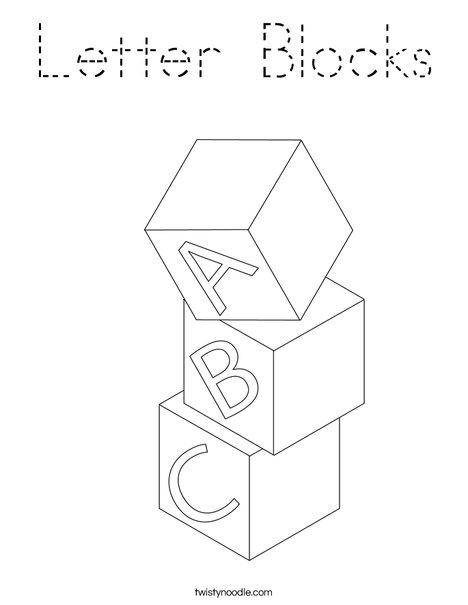 Blocks Coloring Page