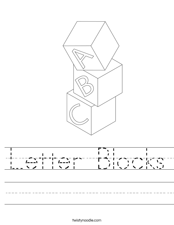 Letter Blocks Worksheet