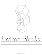 Letter Blocks Handwriting Sheet