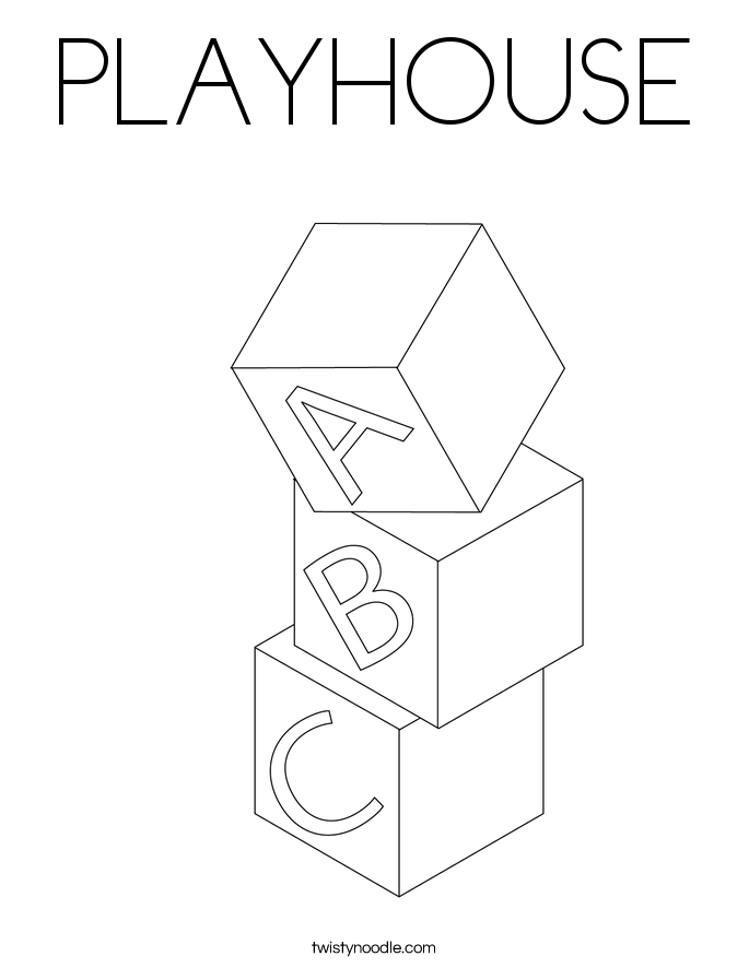 PLAYHOUSE Coloring Page