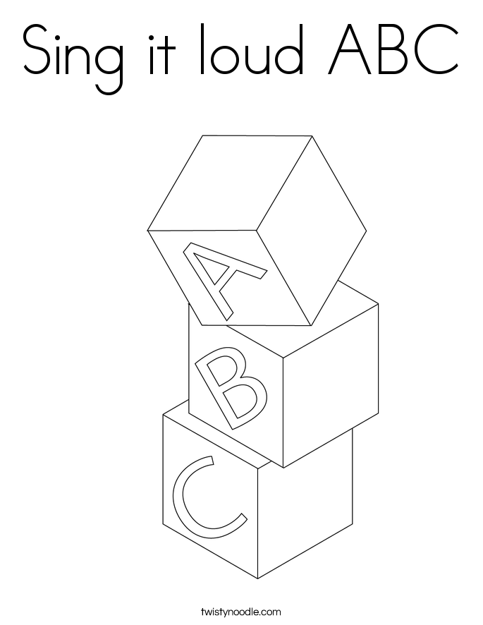 Sing it loud ABC Coloring Page