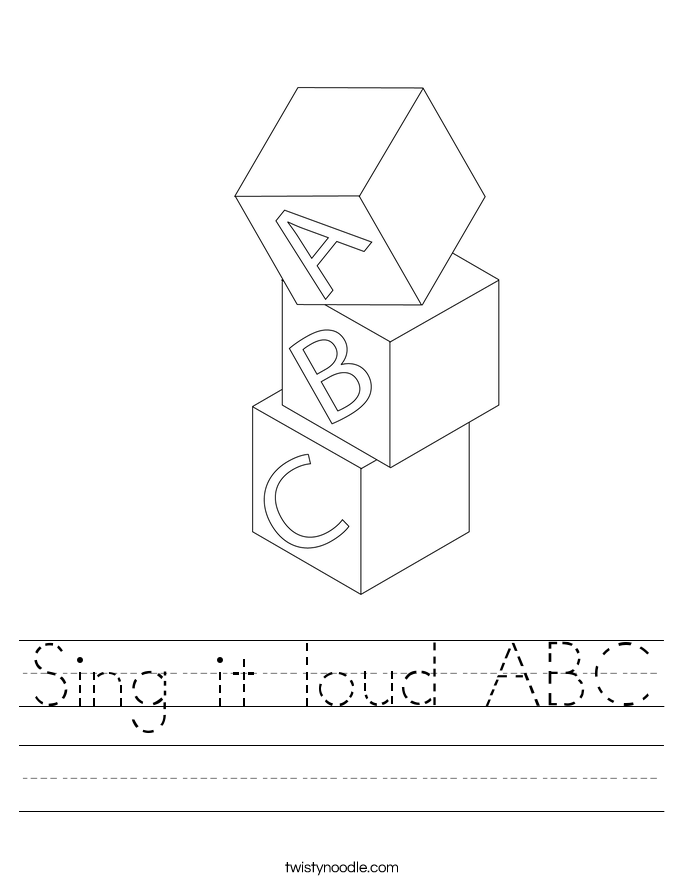 Sing it loud ABC Worksheet