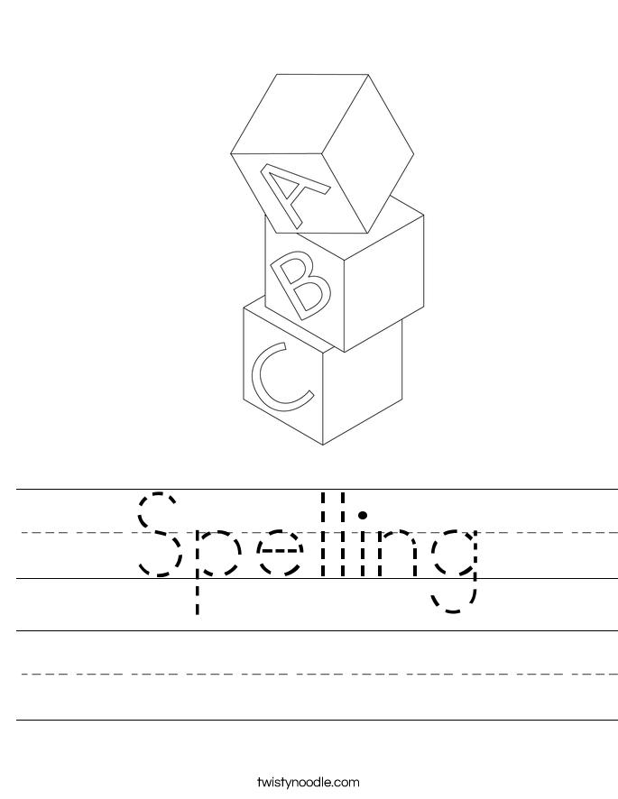 spelling worksheet twisty noodle. Black Bedroom Furniture Sets. Home Design Ideas