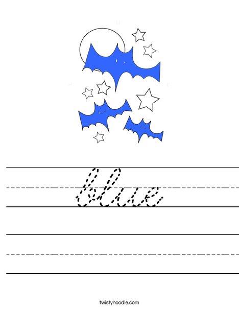 Blue Bats Worksheet