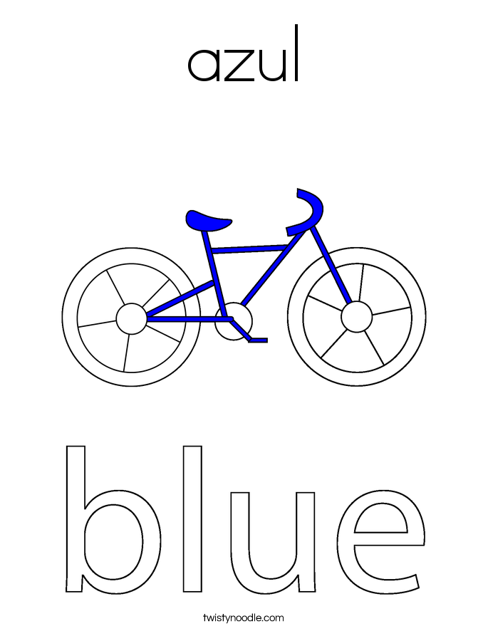 azul Coloring Page