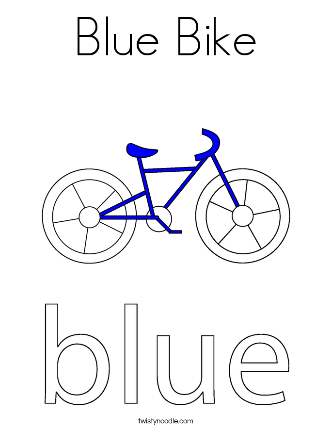 Blue Bike Coloring Page Twisty Noodle Coloring Pages Of Bikes