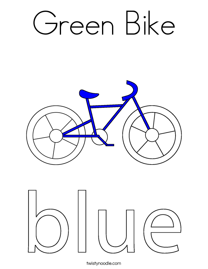 Green Bike Coloring Page