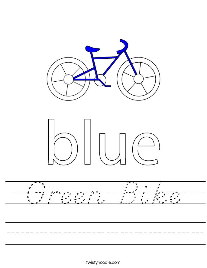 Green Bike Worksheet