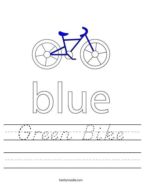 Blue Bike Worksheet