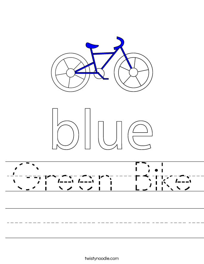 Green Bike Worksheet
