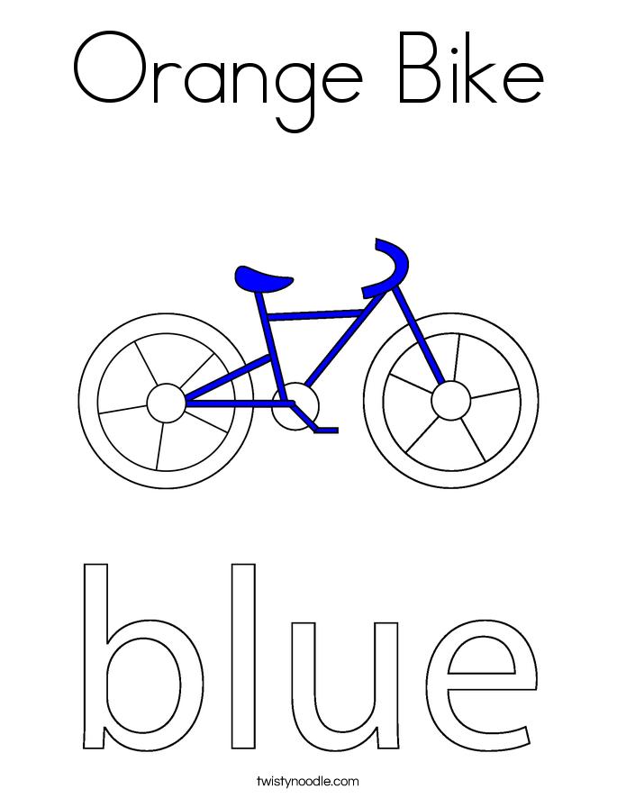 Orange Bike Coloring Page