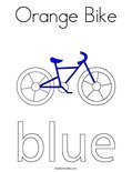 Orange Bike Coloring Page