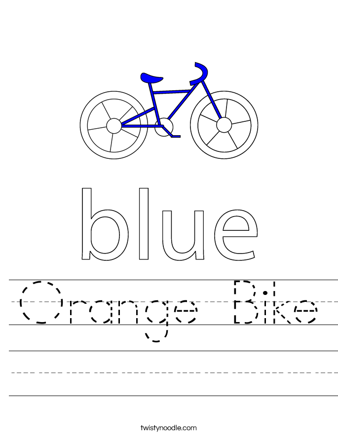 Orange Bike Worksheet