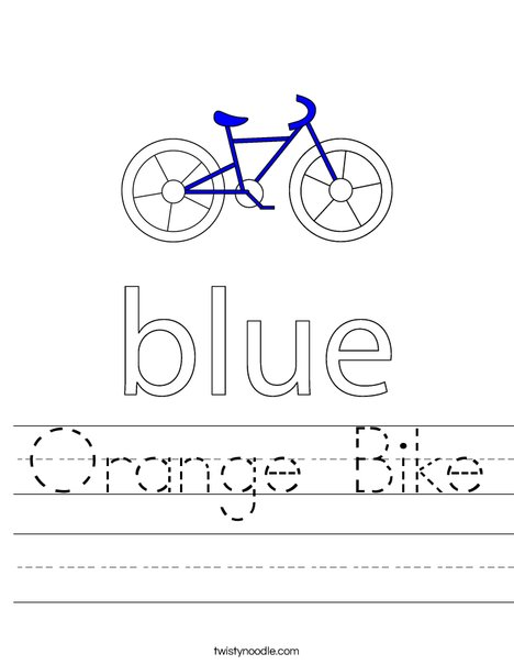 Blue Bike Worksheet