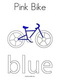 Pink Bike Coloring Page