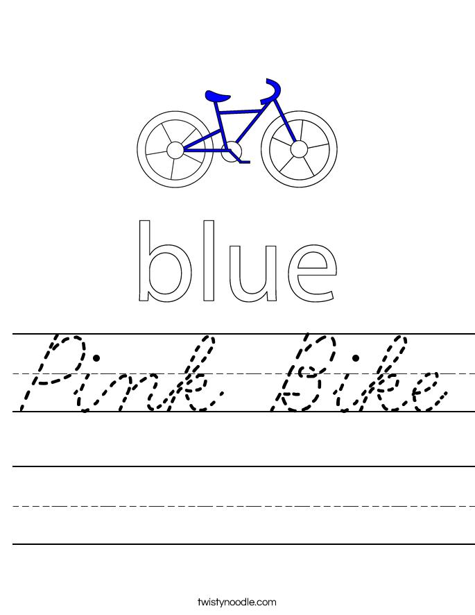 Pink Bike Worksheet
