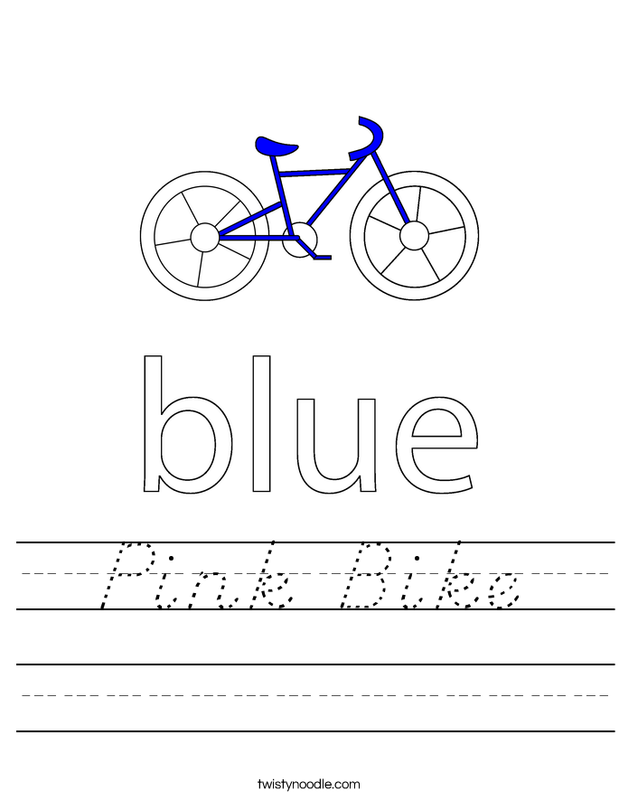 Pink Bike Worksheet