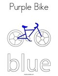 Purple Bike Coloring Page